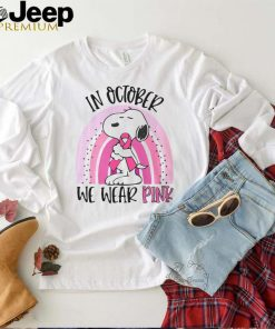 Snoopy Breast Cancer In October We Wear Pink T shirt